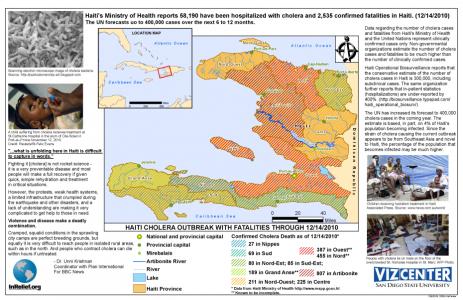 map: haiti cholera