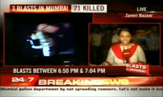 Three Blasts in Mumbai